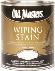 Old Masters 12304 Oil Based Wiping Stain, 1 qt Can, 500 sq-ft/gal, 123 Fruitwood