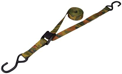 """ProSource 1187947 Tie-Down Kit, 400 lb Work, 10 ft L, S-Hook, Polyester Webbed, Camo"""