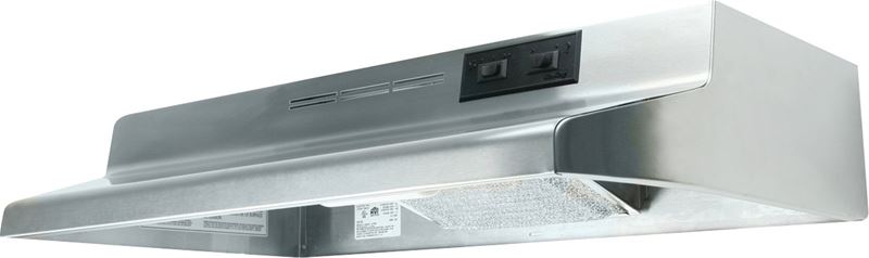 Air King Advantage AD AD1308 Under Cabinet Ductless Range Hood, 180 cfm, 23 ga Cold Rolled Steel