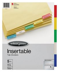 Acco W54309 Index Dividers 5-Tab - 24 Pack