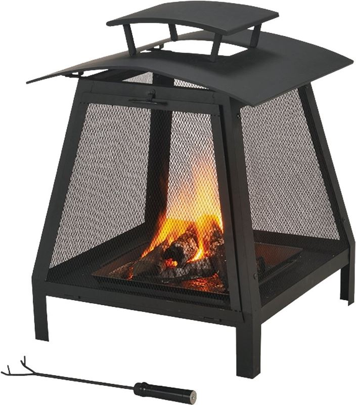 ProSource FP-102 Screened Outdoor Fireplace