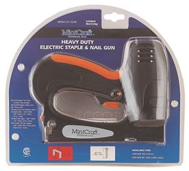 Mintcraft A702 2-Way Corded Electric Heavy Duty Staple/Nail Gun, 1 Ft Crown