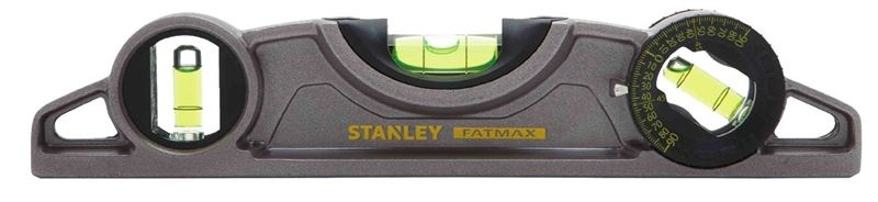 Fatmax Xtreme 43-609 Magnetic Torpedo Level, 0.0005 in 9 in L, Aluminum