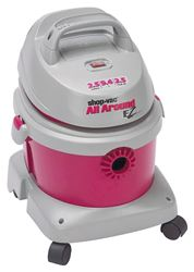 All Around Ez 5895200 Wet/Dry Corded Vacuum, 120 VAC, 8 A, 2.5 hp, 2.5 gal Tank, 130 cfm