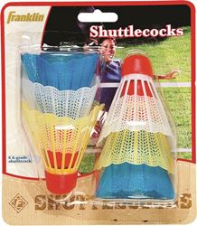 Franklin Sports 3261/02 A-Grade Shuttlecocks, 6 Pieces, Plastic, Assorted