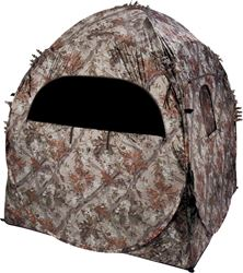 Ameristep 1RX2S010FR Ground Blind Doghouse, 7 Windows, 60 sq-in x 66 in Tall, Camouflage