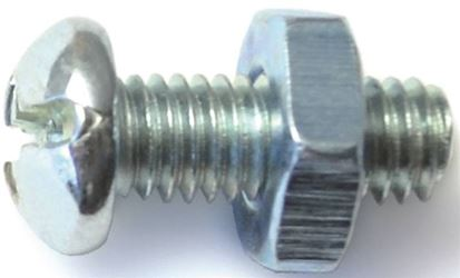 Midwest Fastener 23991 10-32X1/2 Cmb Rd Mach Zn - 5 Pack
