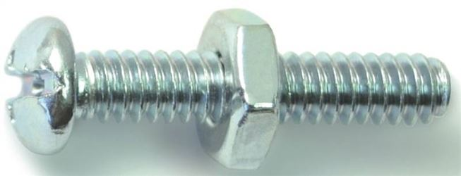 Midwest Fastener 23985 10-24X1Combo Rd Mach Zn - 5 Pack