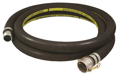 Abbott Rubber 1210-2000-20-Cn Heavy Grade Suction Hose, 2 In X 20 Ft, Cam Lock Female X Mnpt, Rubber