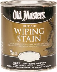 Old Masters 15016 Oil Based Wiping Stain, 0.5 pt Can, 500 sq-ft/gal, 150 Rich Mahogany