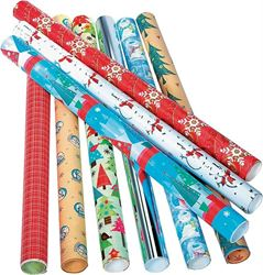 Santas Forest Gift Wrap Value Roll 15Sqft