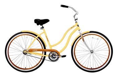 Kent Cruiser, Ladies, 26 in, Steel, Yellow