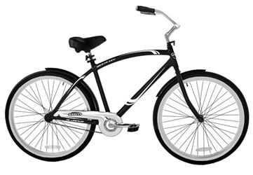 Kent Cruiser, Men, 26 in, Aluminum, Black