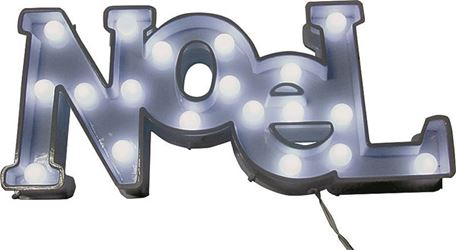 Holiday Basix 60115 Battery Operated Hanging LED Window Marquee Noel, 16 in H
