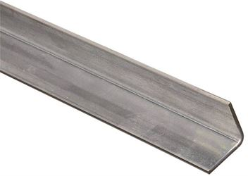 Stanley 179960 Equal Leg Angle, 1-1/4 in Leg x 11 ga T, 48 in L, Steel, Zinc Plated
