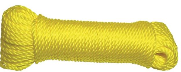 Ben-Mor 60148 General Purpose Lightweight Twisted Rope, 1/4 in Dia x 100 ft L