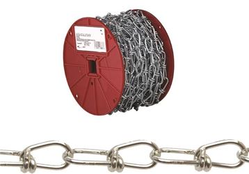 Campbell 072-0127 Double Loop Chain, 1/0 X 250 Ft, 155 Lb, Low Carbon Steel