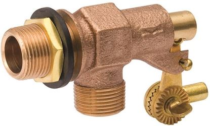 B & K 109-814 Tank Float Valve, 3/4 in Inlet, Male Inlet X Male Outlet, Bronze