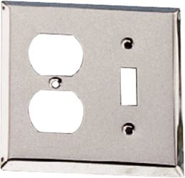 ProSource CSC3L04 Combination Wall Plate, 2 Gang, 4-7/16 in L x 4-7/16 in W x 3/16 in D