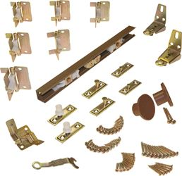 Johnson 1700 Door Hardware Set, 18 X 4 in W Panel, For Use With 3/4 - 1-3/4 in Door Thickness