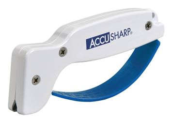 Accusharp 001/C Utility Knife Sharpener, For Use With Serrated Knives, Cleavers, Axes And Machetes