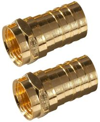 Zenith VA1002RG6CR Type F Coaxial Connector, Crimp-On RG6