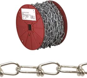 Campbell 072-2027 Double Loop Chain, 2/0 x 155 ft, 255 lb, Low Carbon Steel