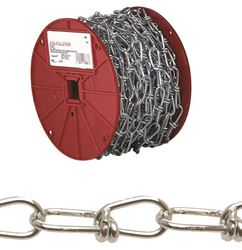 Campbell 072-2087 Double Loop Chain, 2/0 x 60 ft, 255 lb, Low Carbon Steel