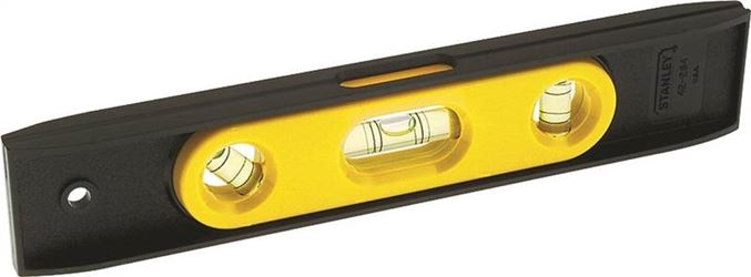Stanley 42-264 Magnetic Top Reading Torpedo Level, 9 in L, High Impact Plastic
