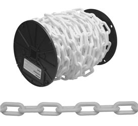 Campbell 099-0647 Straight Welded Single Loop Chain, No 6, 100 Ft L, Plastic