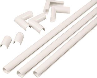 CordMate Legrand C110 Cord Channel Kit, White Plastic