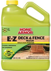 Home Armor FG505 Deck and Fence Wash Remover, 1 gal, Yellow/Clear, Gas, Solid