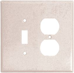 Arrow Hart 2148 Combination Oversize Wall Plate, 2 Gang, 4-1/2 in L x 4.56 in W x 0.08 in T, White