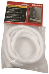 Cordmate Flex CM61 Split Flexible Tube, 3/8 in 5 ft L, White
