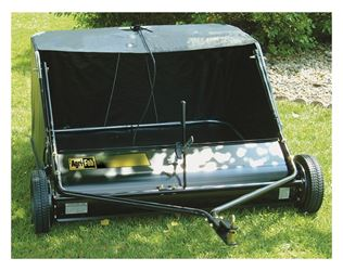 Agri-Fab 45-0320 Tow Behind Lawn Sweeper, 42 in Working, 12 cu-ft, 0 - 2-1/4 in, Vinyl, Clear