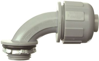 Halex 27691 Liquid Tight Conduit Elbow, 90 Deg, 1/2 In, Pvc