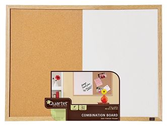 Acco Quartet Non-Magnetic Dry Erase Board, 17 X 23 In Oak Frame