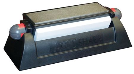 AccuSharp 025C Bench Tri-Stone Tri-Stone Bench Sharpening System, For Use With Straight Edge Blade