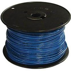 Southwire 12Blu-Solx500 Solid Single Building Wire, 12 Awg, 500 Ft, 15 Mil Thhn