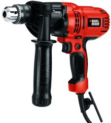 Black & Decker DR560 Compact Corded Drill, 7 A, 1/2 in Keyed Chuck, 0 - 900 rpm