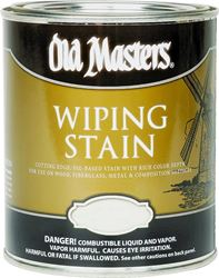 Old Masters 12004 Oil Based Wiping Stain, 1 qt Can, 500 sq-ft/gal, 120 Dark Walnut