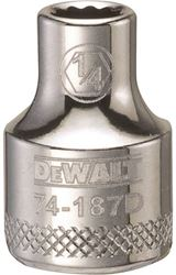 Dewalt Dwmt74187Osp Socket, 3/8 In, 1/4 In, 12 Point