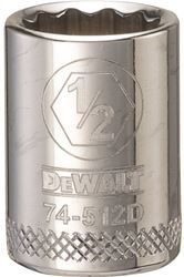Dewalt Dwmt74512Osp Socket, 3/8 In, 1/2 In, 12 Point
