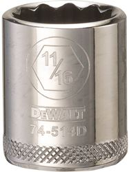 Dewalt Dwmt74514Osp Socket, 3/8 In, 11/16 In, 12 Point