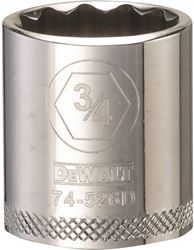 Dewalt Dwmt74526Osp Socket, 3/8 In, 3/4 In, 12 Point