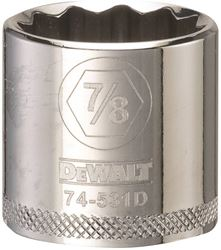 Dewalt Dwmt74531Osp Socket, 3/8 In, 7/8 In, 12 Point