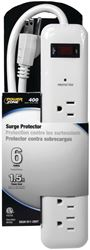 Powerzone OR802013 Surge Protector Strip, 125 V, 15 A, 6 Outlet