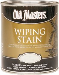 Old Masters 11816 Oil Based Wiping Stain, 0.5 pt Can, 500 sq-ft/gal, 118 Dark Mahogany
