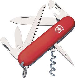 Camper 56301 Pocket Knife, 13-In-1 Function, Stainless Steel, Red