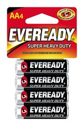 Eveready 1215 Non-Rechargeable Super Heavy Duty Battery, 1.5 V, AA, Zinc Manganese Dioxide